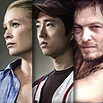 Laurie Holden, Steven Yeun, and Norman Reedus